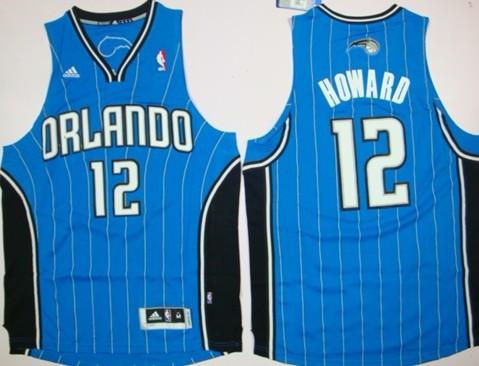 Orlando Magic #12 Dwight Howard Revolution 30 Swingman Blue Jersey