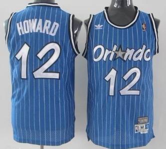 Orlando Magic #12 Dwight Howard Blue Swingman Throwback Jersey
