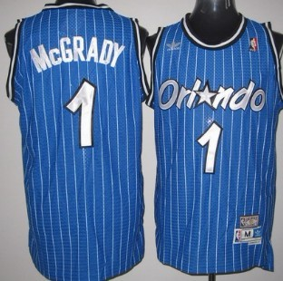 Orlando Magic #1 Tracy McGrady Blue Swingman Throwback Jersey