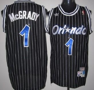 Orlando Magic #1 Tracy McGrady Black Swingman Throwback Jersey