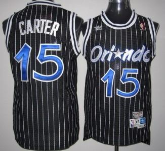 Orlando Magic #15 Vince Carter Black Swingman Throwback Jersey