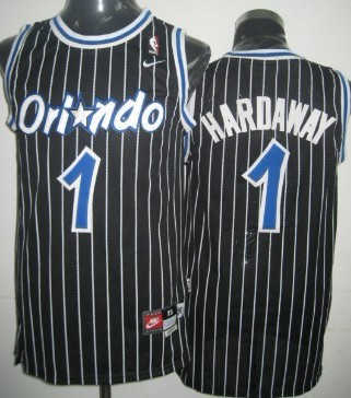 Orlando Magic #1 Penny Hardaway Black Swingman Throwback Jersey