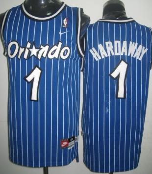 Orlando Magic #1 Penny Hardaway Blue Swingman Throwback Jersey
