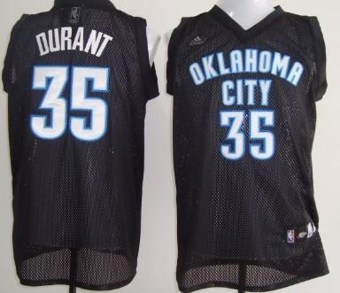 Oklahoma City Thunder #35 Kevin Durant Black Swingman Jersey