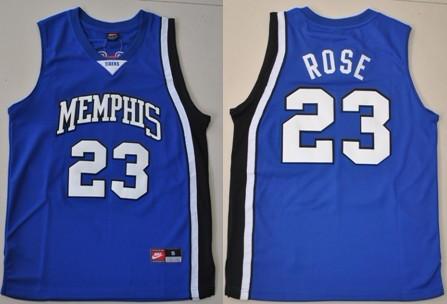 Memphis Tigers #23 Derrick Rose Blue Jersey