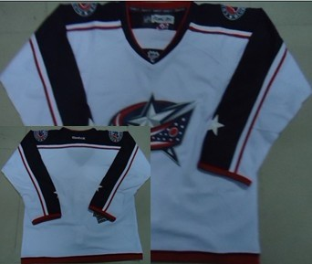 Columbus Blue Jackets Blank White Jersey