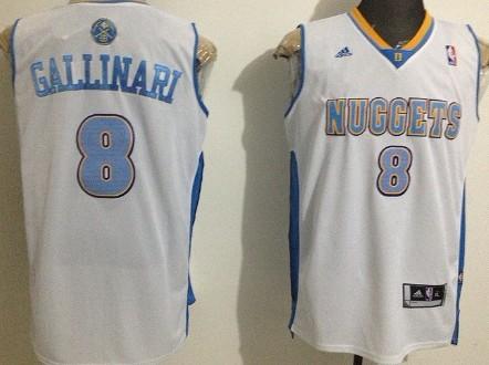 Denver Nuggets #8 Danilo Gallinari Revolution 30 Swingman White Jersey