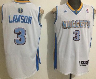 Denver Nuggets #3 Ty Lawson Revolution 30 Swingman White Jersey