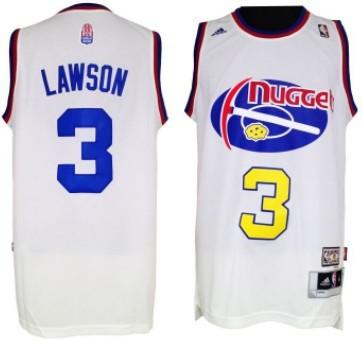 Denver Nuggets #3 Ty Lawson ABA Hardwood Classic Swingman White Jersey