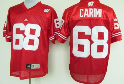 Wisconsin Badgers #68 Gabe Carimi Red Jersey