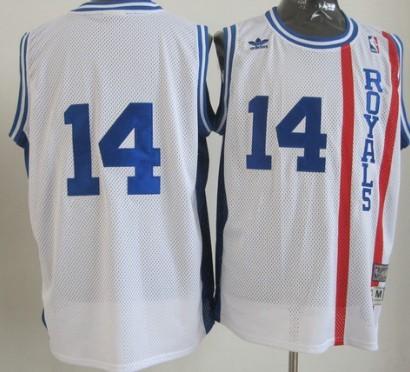 Sacramento Kings #14 Oscar Robertson White Swingman Throwback Jersey