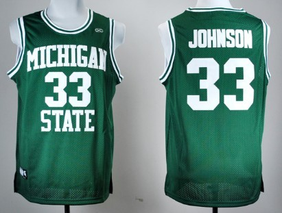 Michigan State Spartans #33 Magic Johnson Green Jersey