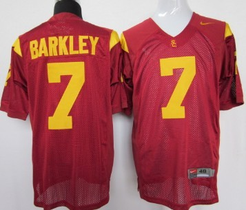 USC Trojans #7 Matt Barkley Red Jersey