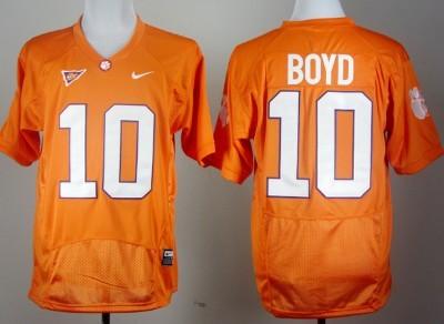 Clemson Tigers #10 Tajh Boyd Orange Pro Combat Jersey