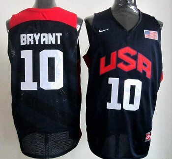 2012 Olympics Team USA #10 Kobe Bryant Revolution 30 Swingman Blue Jersey