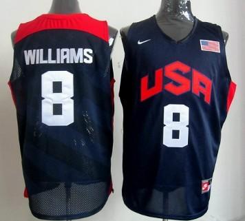 2012 Olympics Team USA #8 Deron Williams Revolution 30 Swingman Blue Jersey