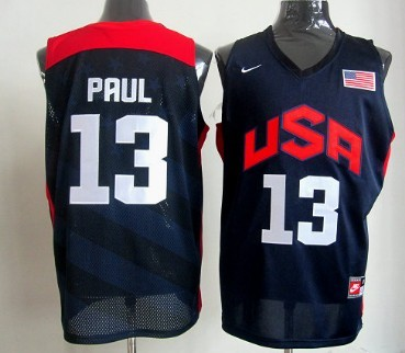 2012 Olympics Team USA #13 Chris Paul Revolution 30 Swingman Blue Jersey