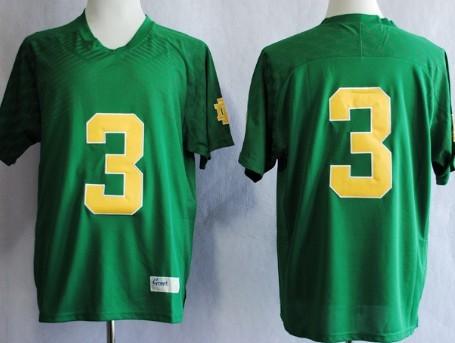 Notre Dame Fighting Irish #3 Joe Montana 2013 Green Jersey