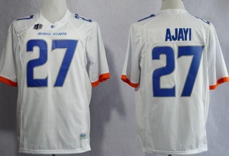 Boise State Broncos #27 Jay Ajayi 2013 White Jersey