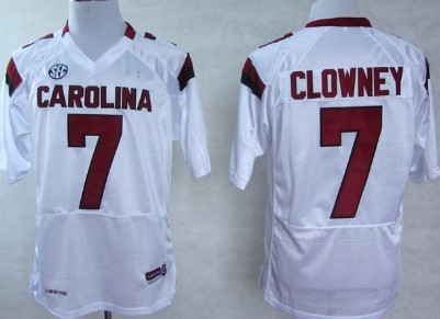 South Carolina Gamecocks #7 Jadeveon Clowney 2013 White Jersey