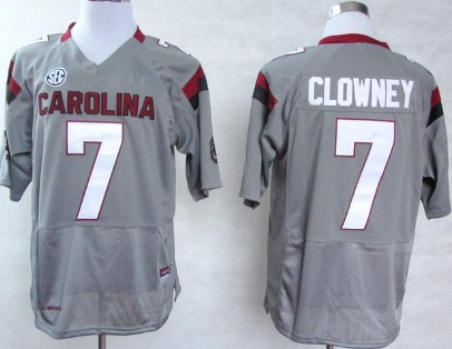 South Carolina Gamecocks #7 Jadeveon Clowney 2013 Gray Jersey