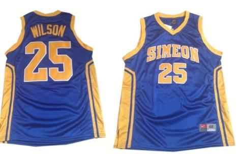 Simeon Vocational High School #25 Ben Wilson Blue Jersey