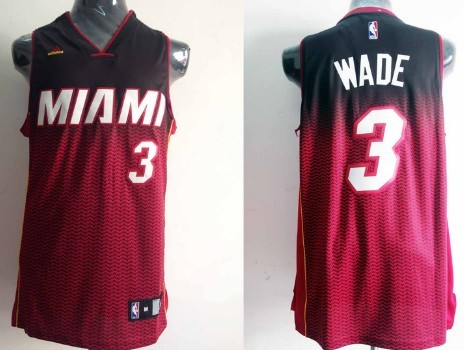 Miami Heat #3 Dwyane Wade Black/Red Resonate Fashion Jersey