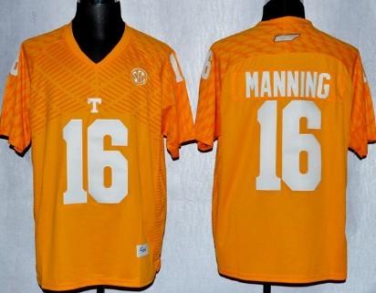 Tennessee Volunteers #16 Peyton Manning 2013 Orange Jersey