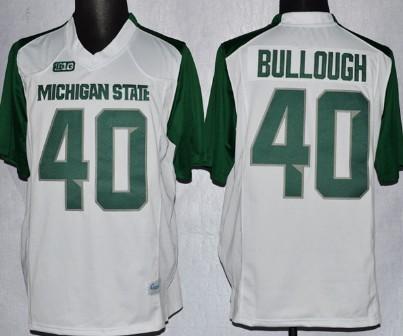 Michigan State Spartans #40 Max Bullough 2013 White Jersey