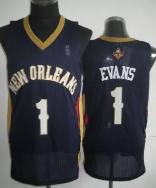 New Orleans Pelicans #1 Tyreke Evans Navy Blue Swingman Jersey