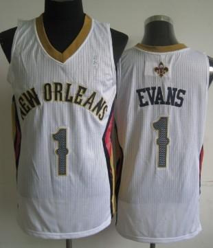 New Orleans Pelicans #1 Tyreke Evans White Swingman Jersey