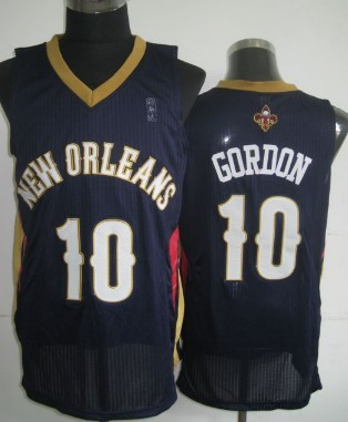 New Orleans Pelicans #10 Eric Gordon Navy Blue Swingman Jersey