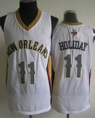 New Orleans Pelicans #11 Jrue Holiday White Swingman Jersey