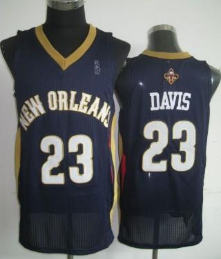 New Orleans Pelicans #23 Anthony Davis Navy Blue Swingman Jersey