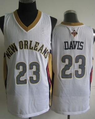 New Orleans Pelicans #23 Anthony Davis White Swingman Jersey