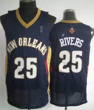 New Orleans Pelicans #25 Austin Rivers Navy Blue Swingman Jersey