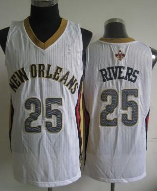 New Orleans Pelicans #25 Austin Rivers White Swingman Jersey