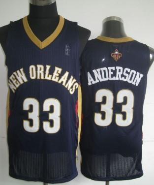 New Orleans Pelicans #33 Ryan Anderson Navy Blue Swingman Jersey