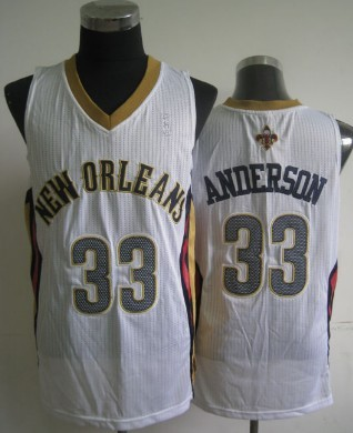 New Orleans Pelicans #33 Ryan Anderson White Swingman Jersey