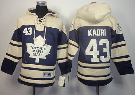 Old Time Hockey Toronto Maple Leafs #43 Nazem Kadri Navy Blue Kids Hoodie