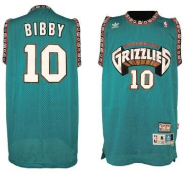 Memphis Grizzlies #10 Mike Bibby ABA Hardwood Classics Green Throwback Swingman Jersey