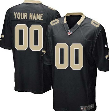 Kids' Nike New Orleans Saints Customized Black Limited Jersey