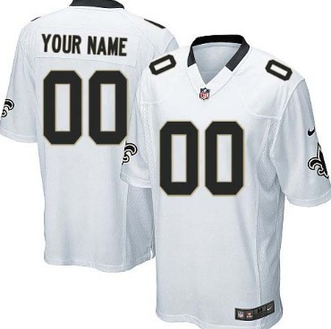Kids' Nike New Orleans Saints Customized White Limited Jersey