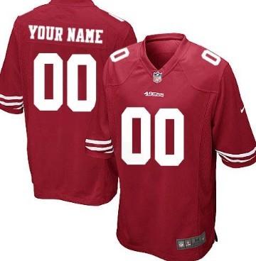 Kids' Nike San Francisco 49ers Customized Red Game Jersey