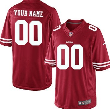 Kids' Nike San Francisco 49ers Customized Red Limited Jersey