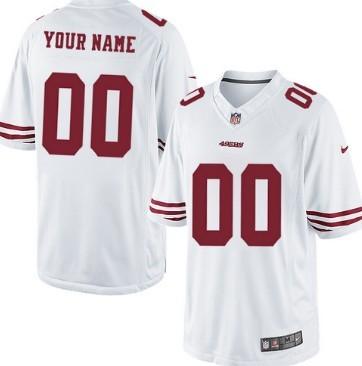 Kids' Nike San Francisco 49ers Customized White Limited Jersey