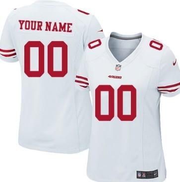 Women's Nike San Francisco 49ers Customized White Game Jersey