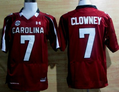 South Carolina Gamecocks #7 Jadeveon Clowney Red Jersey