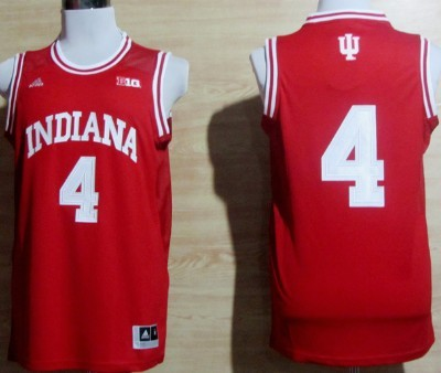 Indiana Hoosiers #4 Victor Oladipo Red Big 10 Patch Jersey