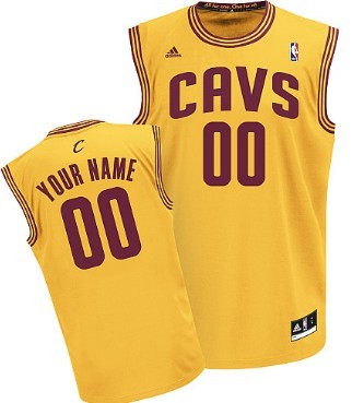 Mens Cleveland Cavaliers Customized Yellow Jersey